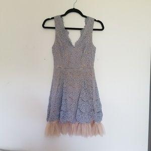 Lilac Lace Formal Dress
